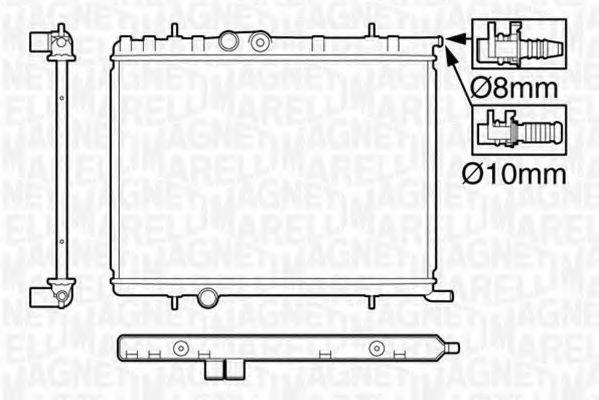 Радиатор, охлаждение двигателя MAGNETI MARELLI 350213119600
