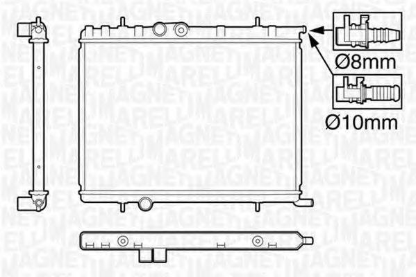 Радиатор, охлаждение двигателя MAGNETI MARELLI 350213120009