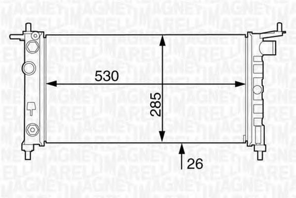 Радиатор, охлаждение двигателя MAGNETI MARELLI 350213122900