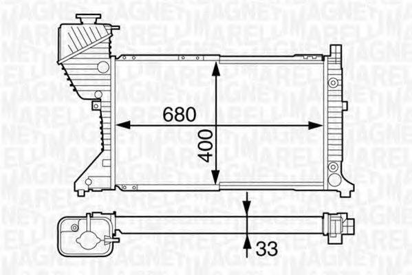 Радиатор, охлаждение двигателя MAGNETI MARELLI 350213123200
