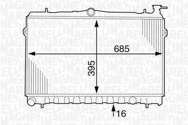 Радиатор, охлаждение двигателя MAGNETI MARELLI 350213123800