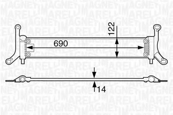 Радиатор, охлаждение двигателя MAGNETI MARELLI 350213126000