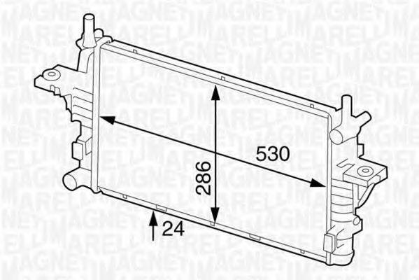 Радиатор, охлаждение двигателя MAGNETI MARELLI 350213126100