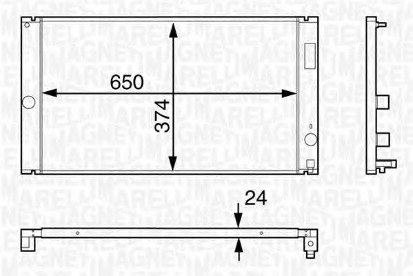 Радиатор, охлаждение двигателя MAGNETI MARELLI 350213126600