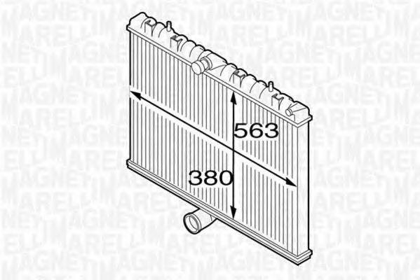 Радиатор охлаждения MAGNETI MARELLI 350213127300