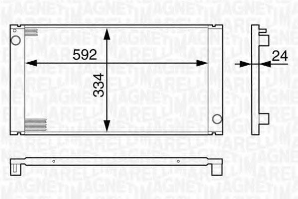 Радиатор, охлаждение двигателя MAGNETI MARELLI 350213127800