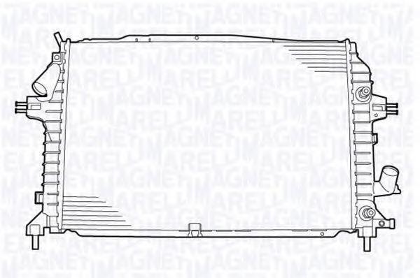 Радиатор, охлаждение двигателя MAGNETI MARELLI 350213130400