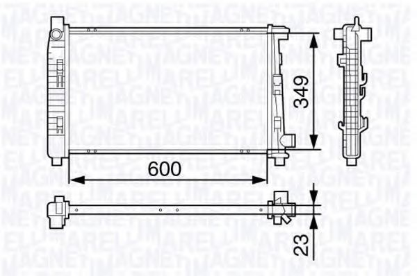 Радиатор, охлаждение двигателя MAGNETI MARELLI 350213132000