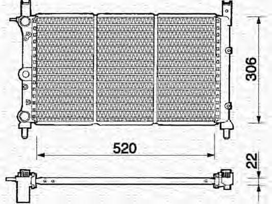 Радиатор охлаждения MAGNETI MARELLI 350213138000