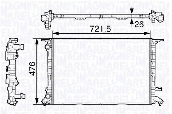 Радиатор, охлаждение двигателя MAGNETI MARELLI 350213138400