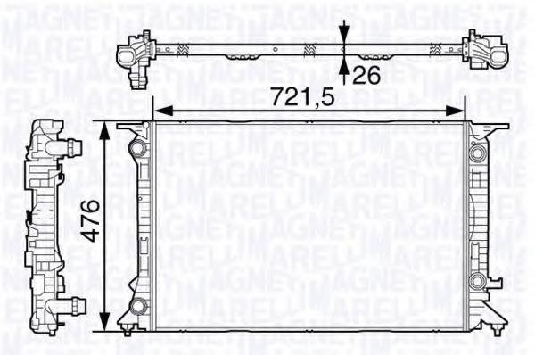 Радиатор, охлаждение двигателя MAGNETI MARELLI 350213138700