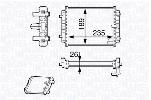 Радиатор, охлаждение двигателя MAGNETI MARELLI 350213138900