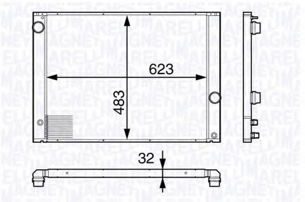 Радиатор, охлаждение двигателя MAGNETI MARELLI 350213139100
