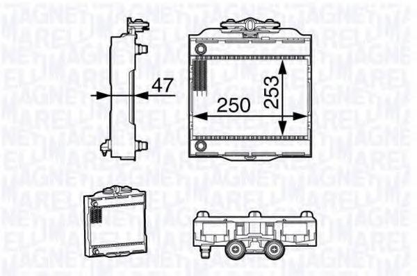 Радиатор, охлаждение двигателя MAGNETI MARELLI 350213139200