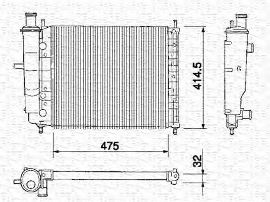 Радиатор охлаждения MAGNETI MARELLI 350213151000