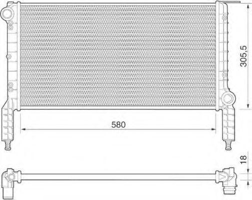 Радиатор охлаждения MAGNETI MARELLI 350213181000