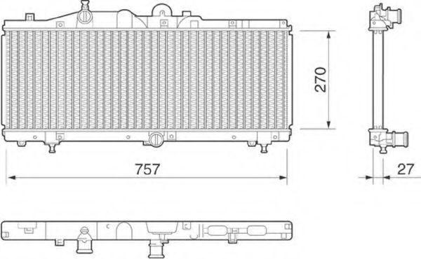 Радиатор, охлаждение двигателя MAGNETI MARELLI 350213185000