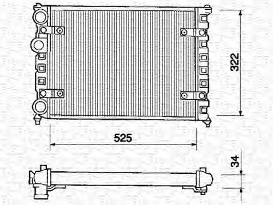 Радиатор, охлаждение двигателя MAGNETI MARELLI 350213233000