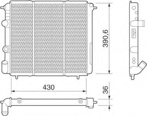 Радиатор, охлаждение двигателя MAGNETI MARELLI 350213251000