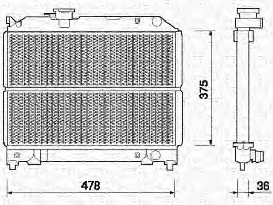 Радиатор, охлаждение двигателя MAGNETI MARELLI 350213369000