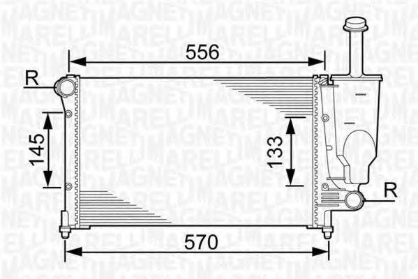 Радиатор охлаждения MAGNETI MARELLI 350213381000
