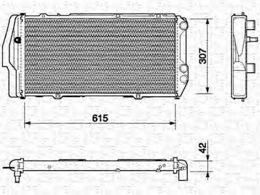Радиатор, охлаждение двигателя MAGNETI MARELLI 350213403000