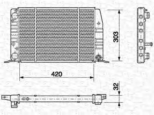 Радиатор, охлаждение двигателя MAGNETI MARELLI 350213404000