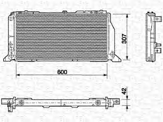 Радиатор, охлаждение двигателя MAGNETI MARELLI 350213406000
