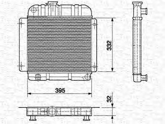 Радиатор, охлаждение двигателя MAGNETI MARELLI 350213417000