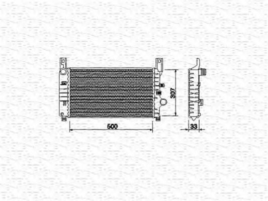Радиатор, охлаждение двигателя MAGNETI MARELLI 350213492000