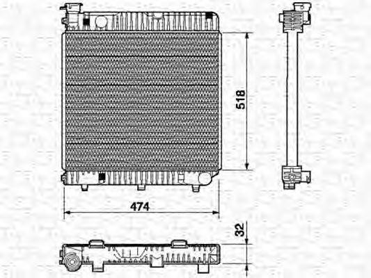 Радиатор охлаждения MAGNETI MARELLI 350 21 352 300 0