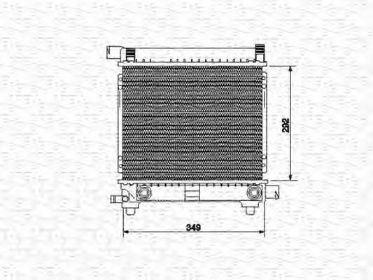 Радиатор, охлаждение двигателя MAGNETI MARELLI 350213534000