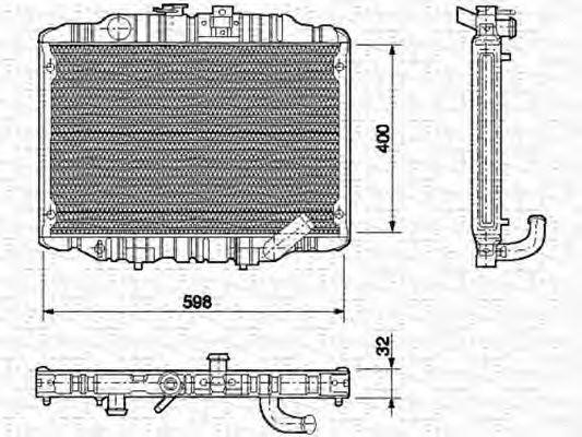 Радиатор, охлаждение двигателя MAGNETI MARELLI 350213550000