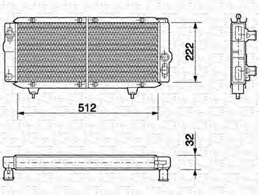 Радиатор, охлаждение двигателя MAGNETI MARELLI 350213594000