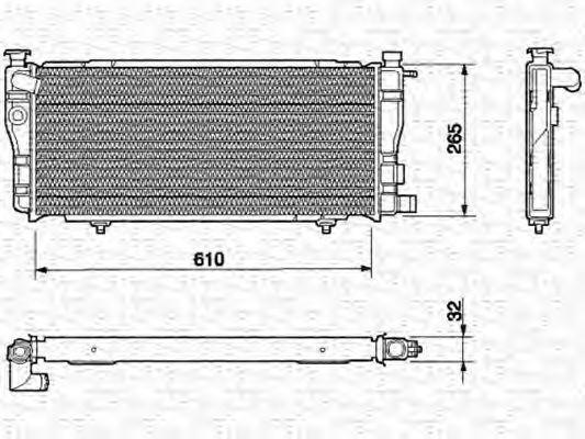 Радиатор, охлаждение двигателя MAGNETI MARELLI 350213604000