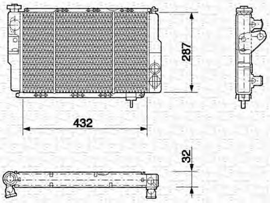 Радиатор, охлаждение двигателя MAGNETI MARELLI 350213608000