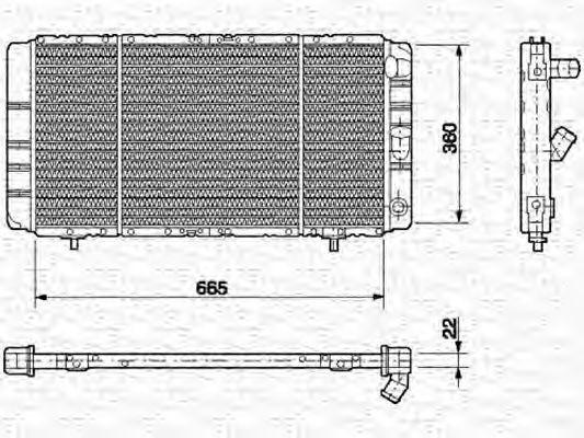 Радиатор, охлаждение двигателя MAGNETI MARELLI 350213624000