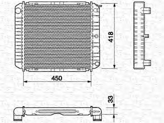 Радиатор, охлаждение двигателя MAGNETI MARELLI 350213657000