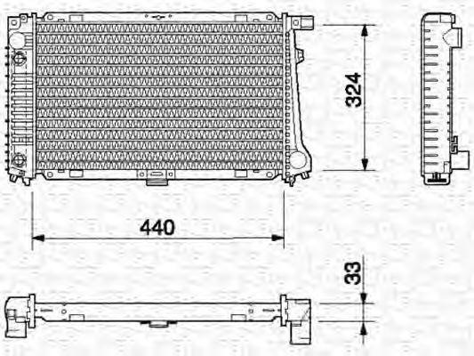 Радиатор, охлаждение двигателя MAGNETI MARELLI 350213696000