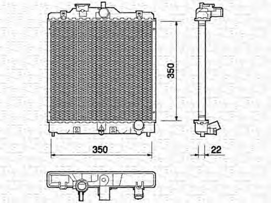 Радиатор, охлаждение двигателя MAGNETI MARELLI 350213749000