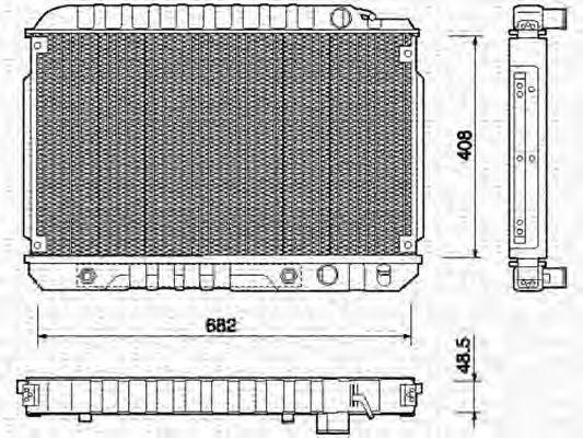 Радиатор, охлаждение двигателя MAGNETI MARELLI 350213750000