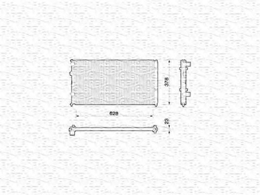 Радиатор, охлаждение двигателя MAGNETI MARELLI 350213779000