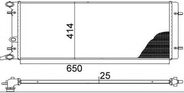 Радиатор, охлаждение двигателя MAGNETI MARELLI 350213803000