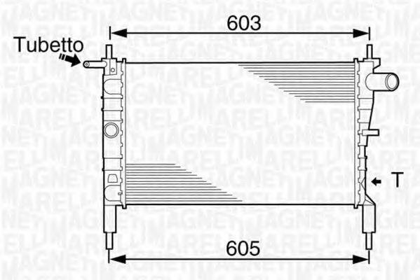 Радиатор, охлаждение двигателя MAGNETI MARELLI 350213831000