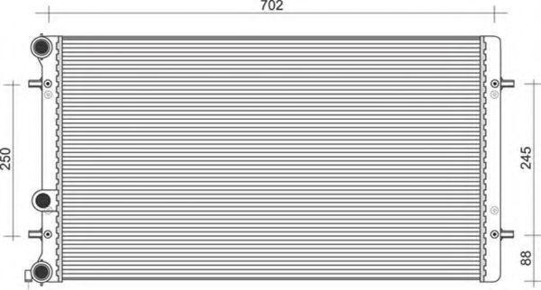Радиатор, охлаждение двигателя MAGNETI MARELLI 350213846000