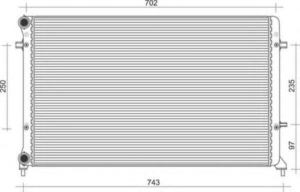 Радиатор, охлаждение двигателя MAGNETI MARELLI 350213854000