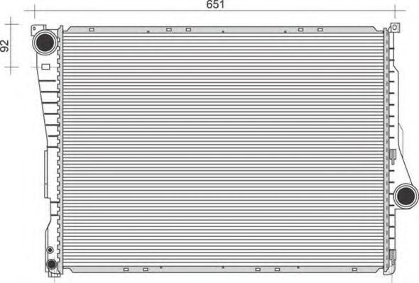 Радиатор, охлаждение двигателя MAGNETI MARELLI 350213857000