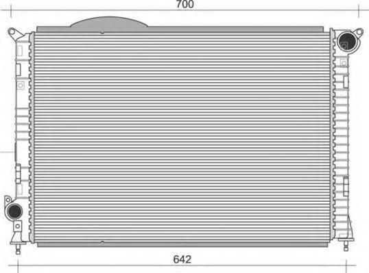 Радиатор, охлаждение двигателя MAGNETI MARELLI 350213860000