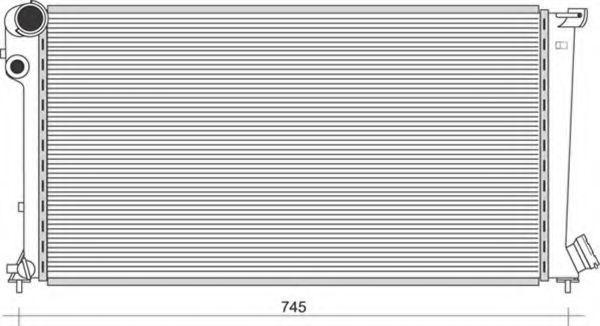 Радиатор, охлаждение двигателя MAGNETI MARELLI 350213864000