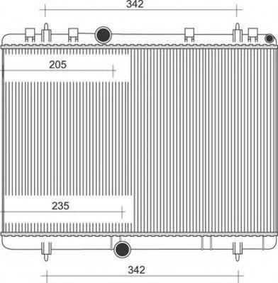 Радиатор, охлаждение двигателя MAGNETI MARELLI 350213889000